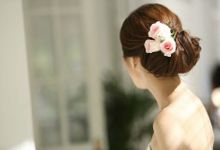 Bridal Hair ,ROM  Hair Styling  by The art of Mae atelier workshop