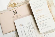 Engagement invitation Stefanie & Hutomo by Gracia The Invitation