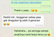 Additional testimonial  by She La Vie Organizer & Decoration