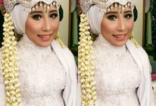 Geneva Hereka & Rizky Wedding by Ginna Susant Makeup