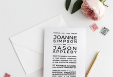 Wedding Stationery - Simple Modern by Weddings by Mint