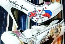 Mark & Anna Rustic Galleon Themed Wedding Shoes by TMP Custom Shoe Studio