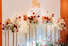 Engagement Backdrop for Bona & Mona by SLMF BALI EVENT