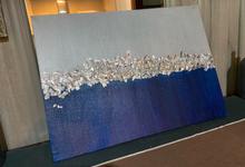 Blue and silver acrylic piece  by Sonu's