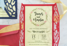 Intricate Die-cut Invitation Card (Ribbon) by Soulmade Design
