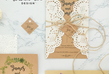 Forest with Lace Style Invitation Card by Soulmade Design