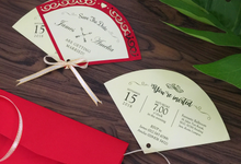 Handfan Style Invitation Card by Soulmade Design
