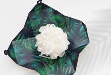 Wedding Souvenir - Shower Puff Greenery with with Box by Kanoo Paper & Gift