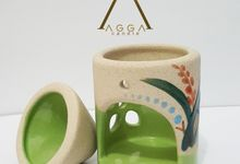 Green Theme Oil Burner by AGGA candle