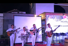 Spanish Band with Fire Dancer and Salsa Dancer at Gathering in Aston Legian by Eva Scolaro Entertainment The Agency
