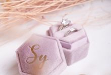 Velvet Ring Box (Hexagon) with monogram by Box Of Love