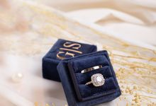 Velvet Ring Box (Square) with monogram by Box Of Love