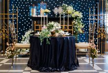 Stargazer Wedding with Bride & Breakfast by Mesclun Events Catering + Styling