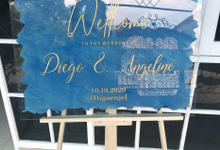 welcome signage for engagement or wedding by starlight.pro