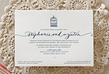 Bespoke Letterpress - Stephanie and Wynton Invitation by Bespoke Letterpress