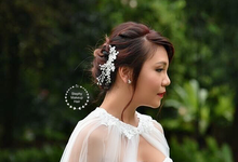Andrea Bridal day photoshoot  by Stephy Ng Makeup and Hair