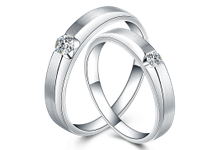 Tiaria Sterling Heart Diamond Ring Perhiasan Cincin Pernikahan Emas dan Berlian by TIARIA