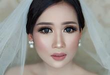 Wedding makeup mrs. Chintya by StevOrlando.makeup