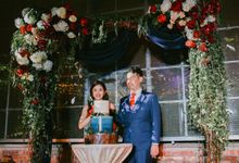 Mok & Charmaine- Love Story of a Pilot & a Nurse - Fairy light  Navy Blue and Rustic Burgundy Wedding by Blissmoment