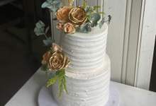 Gold and rustic by sugarbox patisserie