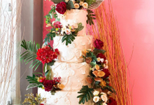 Red gold and white by sugarbox patisserie