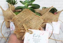 Wedding Nina & Akbar - Souvenir Sukulen Buket Goni by Greenbelle Souvenir
