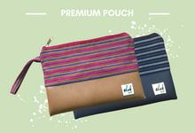 PREMIUM Pouch Kulit & Tenun by Elok by Ibu