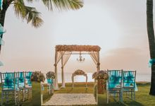 Sunset Wedding Beach at Intercontinental Bali Resort by InterContinental Bali Resort