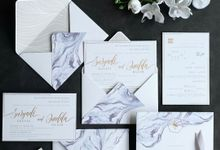 Marble Watercolour Invitation by Jessica Patricia