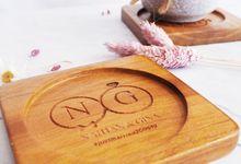 Klat Wedding - souvenir suvenir pernikahan berkualitas premium coaster by Mendekor
