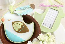 Luggage Tag & Purse Hanger by Princess Wedding4u
