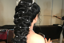 Hair do for our Bride Mrs Amelia  by Sweetie bridal
