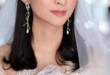 Makeup n hair do modern wedding  by Sweetie bridal