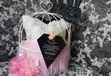 Sweet Pink Wedding Pillow by Fashion Pillow Weds