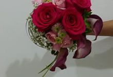 Fushia Bridal Bouquet by Amaryllis Floral Art
