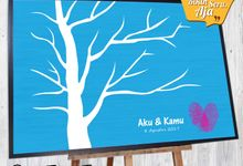Canvas Guestbook Wedding Artwork - Fingerprint T3 by Bikinseru.aja