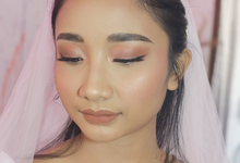 Bronze Look for Bride Ms Cintya by Tari Yuliana Makeup Hair