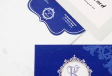 Single Blue Hardcover Invitation by TalkingCard
