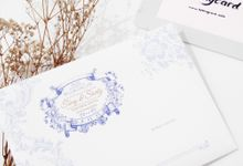 White Blue Single Hardcover Invitation by TalkingCard