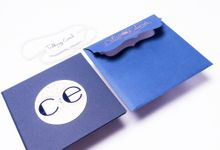 Simple Blue Hardcover Invitation by TalkingCard