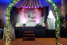 Fairylights Canopy March In Aisle by Te Planner