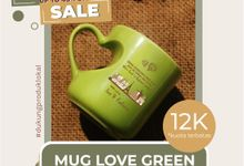 FLASH SALE MUG LOVE GREEN WEDDING SOUVENIR by Mug-App Wedding Souvenir
