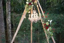 Bali Garden Wedding - Maroon & Dusty Blue Accent Themes by Bali Izatta Wedding Planner & Wedding Florist Decorator