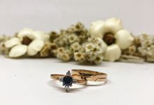 Sapphire Engagement Ring by Goldraw Jewelry