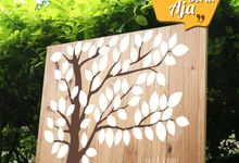 Canvas Guestbook Wedding Artwork ( Tree-01) by Bikinseru.aja
