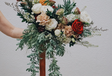 Rustic Forest Inspired Cascading Blooms by The Bloomish Eden