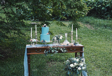 Dusty Blue Vintage by The Dessert Party