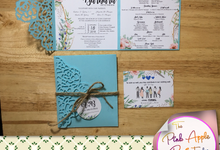Laser cut cover invitations by The Pink Apple Project Plus Prints