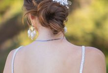 Wedding Bridal white flower floral Hair Comb by Thea Wedding Event Decor