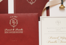 Red burgundy gold touch classic invitation by Thinknthing